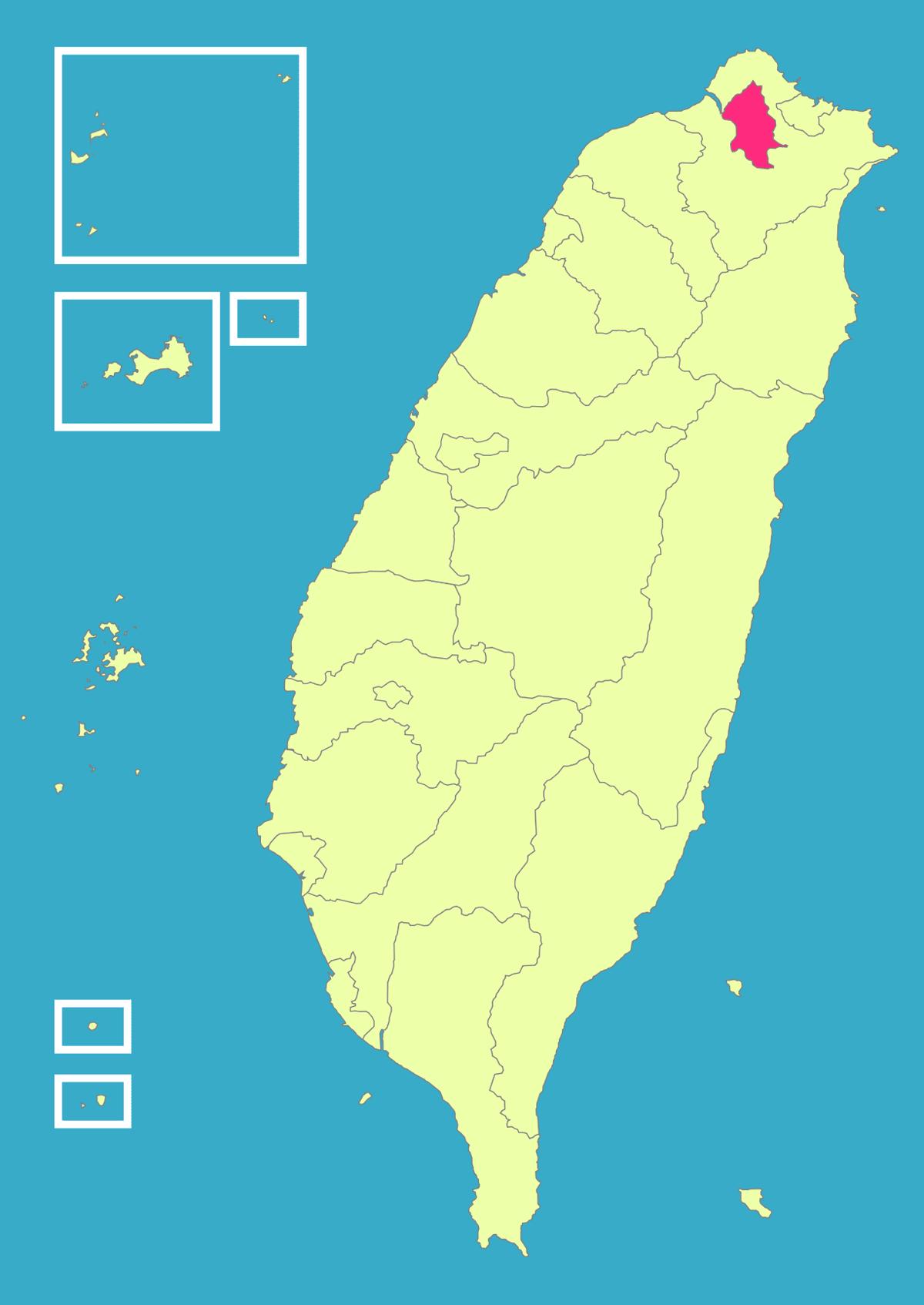 Taiwan Roc Political Division Map Taipei City my island