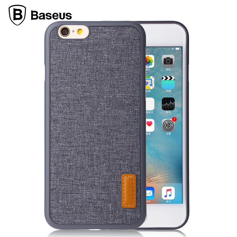 Baseus For iPhone 6 6s Case Simple Stylish Grain Full Protective ...