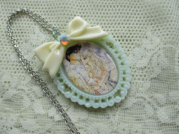 c93012f82 Sailor Moon - Princess Serenity & Prince Endymion - Eternal Love Necklace  on Etsy, $16.60