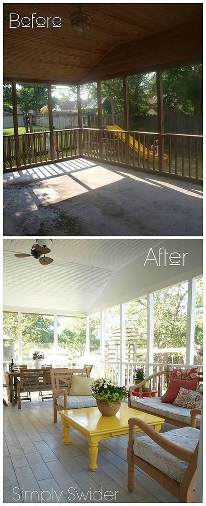 Screened Porch Bright Makeover