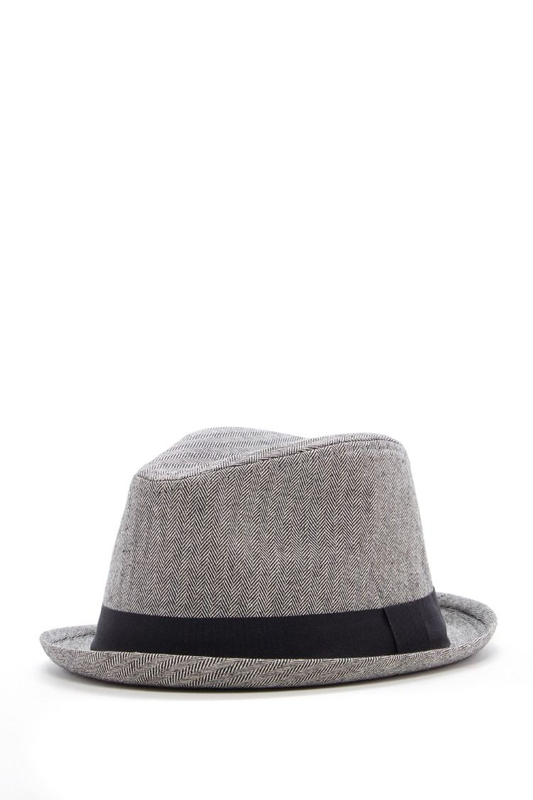 ae44fc22cd Grey Herringbone Fedora Hat for Toddlers.Beautiful Headwear for you ...