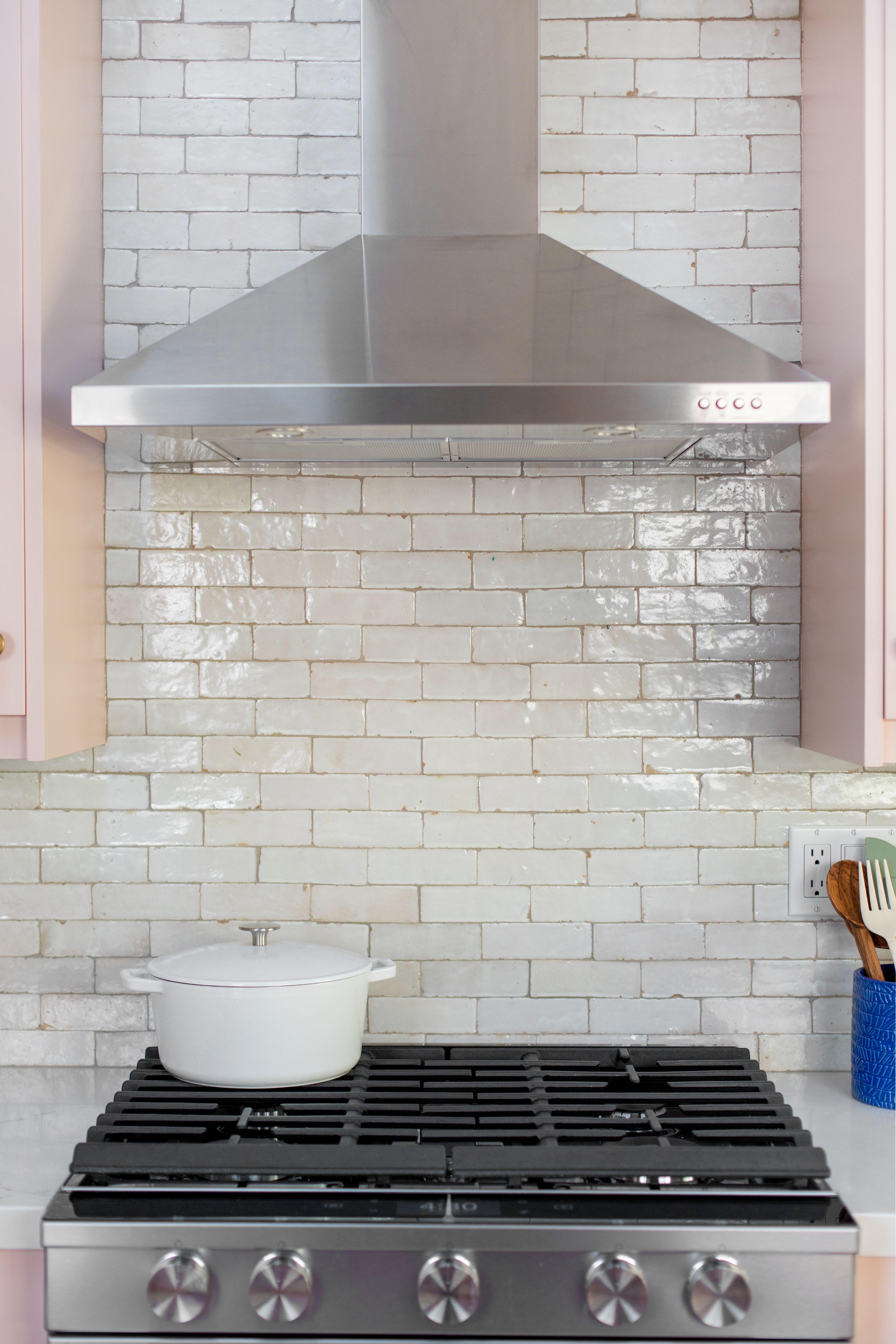 Zellige Weathered White Bejmat 2 X6 X3 4 Kitchen Backsplash Trends Kitchen Design Kitchen Tiles