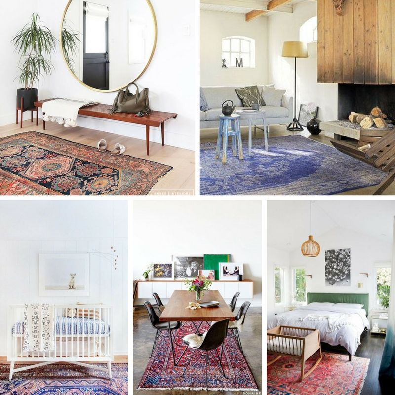 Perzisch tapijt in modern interieur | Woonkamer | Pinterest