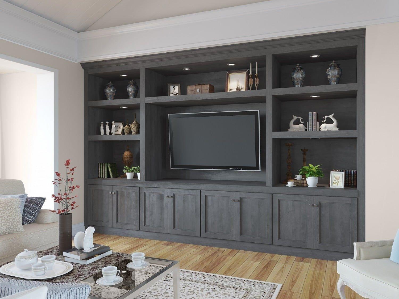 Providence Natural Grey Sample Door Built In Shelves Living Room Built In Tv Cabinet Living Room Built Ins