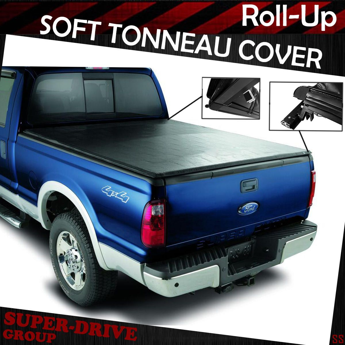 Lock Roll Up Soft Tonneau Cover For 19972003 FORD F150 6