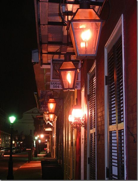 Gas Lanterns In New Orleans