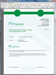 Real Estate Agency Listings Sample Proposal  Create Your Own