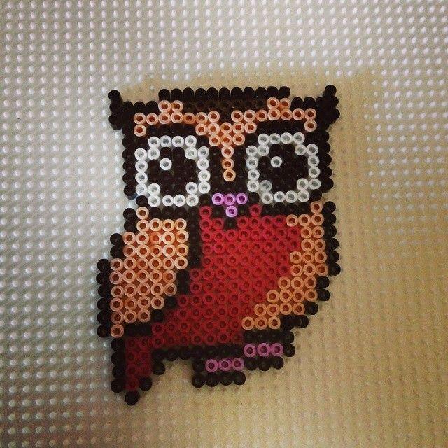 Owl hama mini beads by miguelanhez8