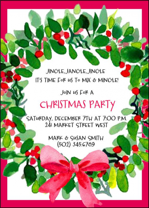 For wreath-making party #christmasparty #christmas #party #invitations