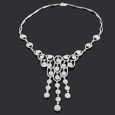Ladies diamond necklaces designer chandelier necklace 1137ct 18k expensive ladies diamond necklaces this designer chandelier necklace by luccello in 18k gold weighs approximately aloadofball Gallery
