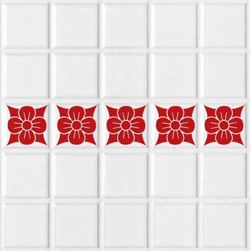Bonitos vinilos para azulejos formados por flores for Azulejos de cocina baratos