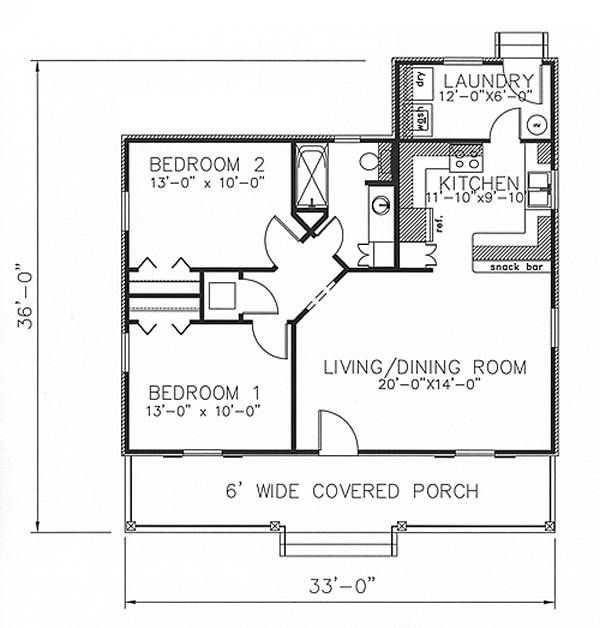 Floor Plan image of The Fairview Cottage