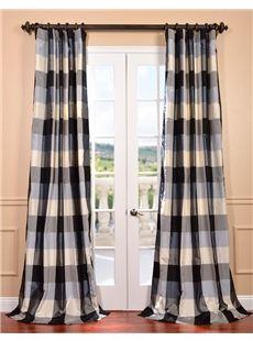 New Oxford Silk Plaid Curtain Plaid Curtains Half Price Drapes Curtains