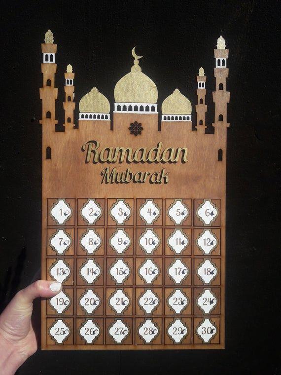 Ramadan Kalender Holzbox für Süßigkeiten