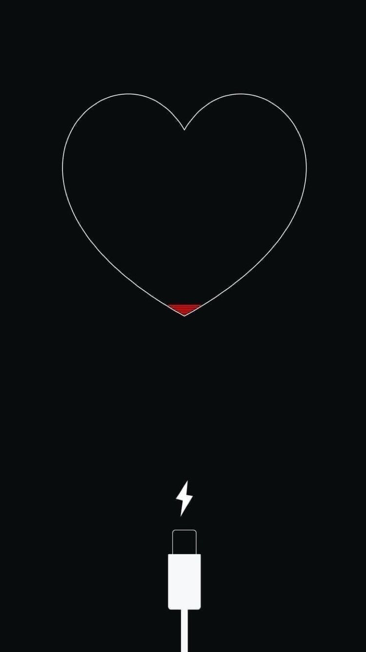 Live Sadness Charge Wallpaper Black Heart Best Iphone Wallpapers Pretty Wallpaper Iphone Aesthetic Iphone Wallpaper
