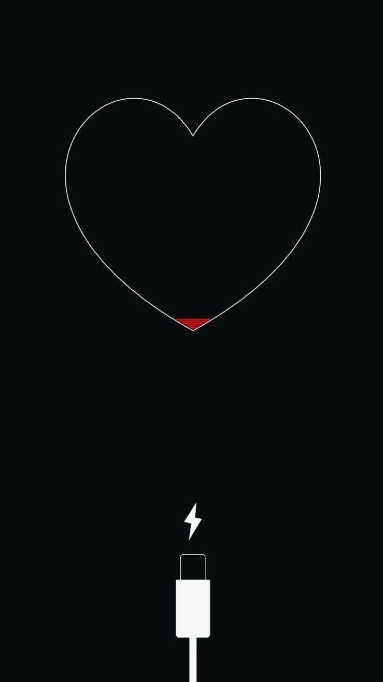 Live Sadness Charge Wallpaper Black Heart Pretty Wallpaper