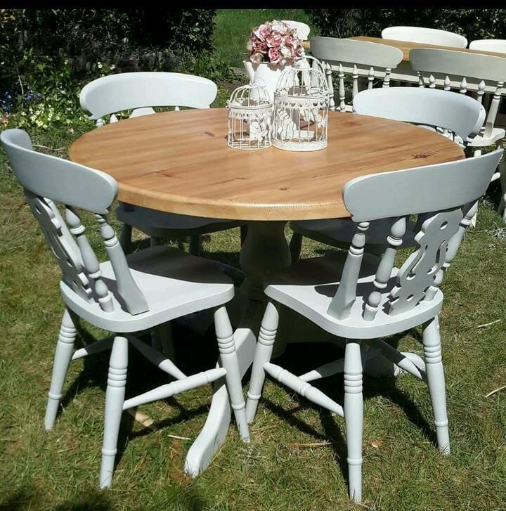 Shabby Chic Dining Table And Chairs Cheap  Dining Room Table And Captivating Pine Dining Room Table And Chairs Review