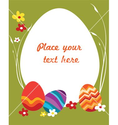 CdnVectorstockCom I Composite  EasterCardTemplateVector