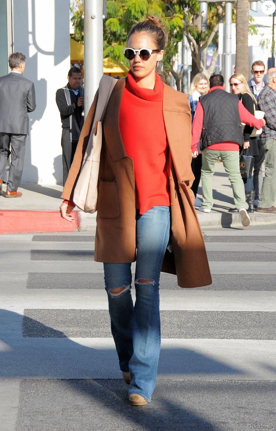 Bag: Celebrity jessica albas proenza schouler advise dress in autumn in 2019
