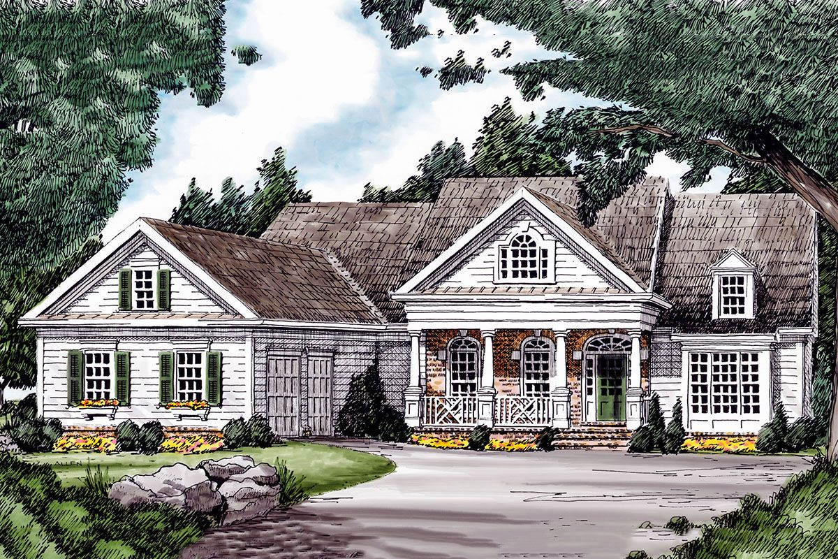 Plan 710165btz Traditional House Plan With Welcoming Front Porch Country Style House Plans Exterior House Remodel Traditional House Plan