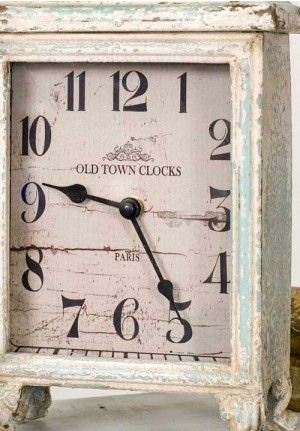 Decorative Table Clock Distressed Table Clock Vintage Desk