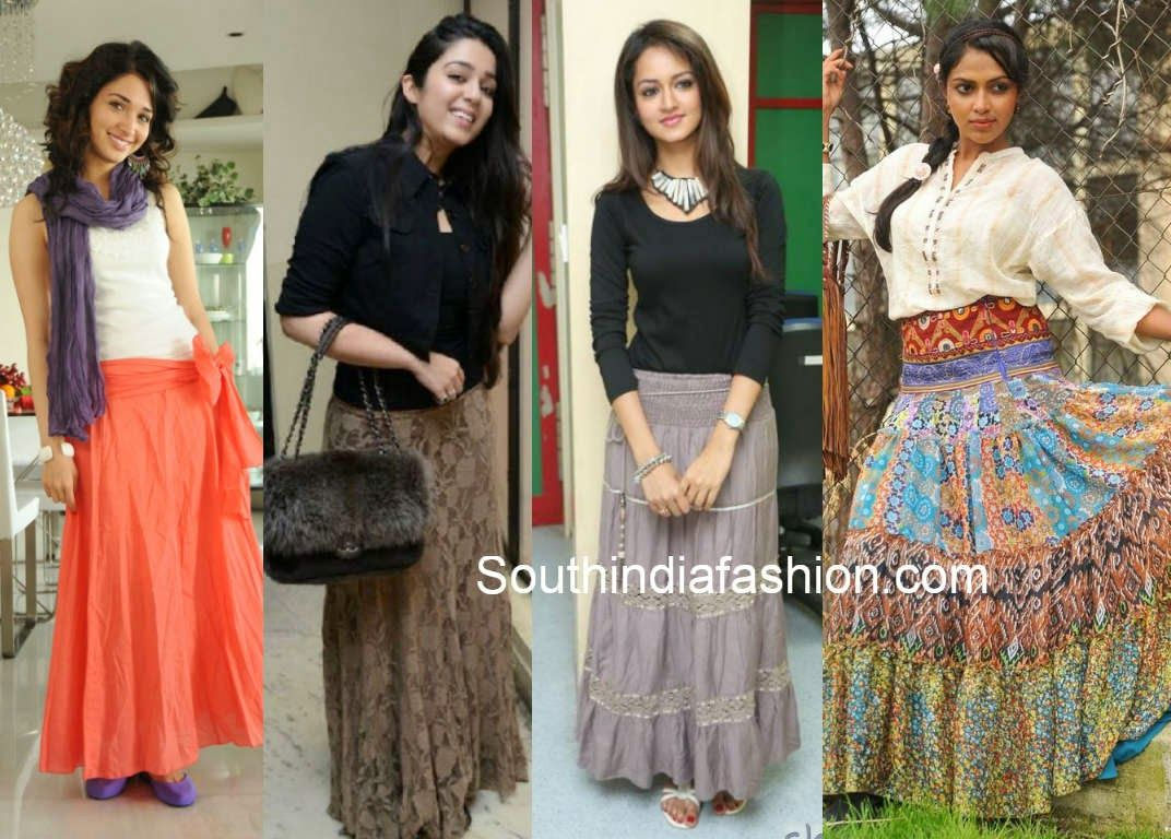How to match indian long skirts with tops and shoes | fashion ...