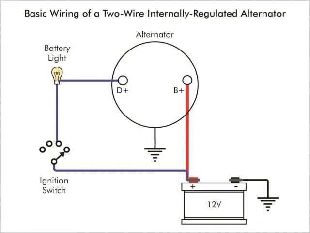 3-wire-alternator-wiring-diagram-elegant-wiring-diagram-for-1-wire-delco -alternator-the-wiring-diagram-of… | Alternator, Voltage regulator,  Electrical switch wiringPinterest