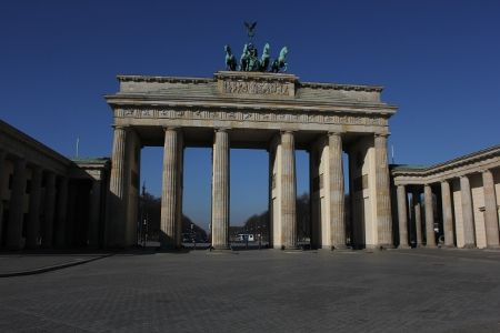 Morgens Am Brandenburger Tor Brandenburger Tor Tore Hauptstadt