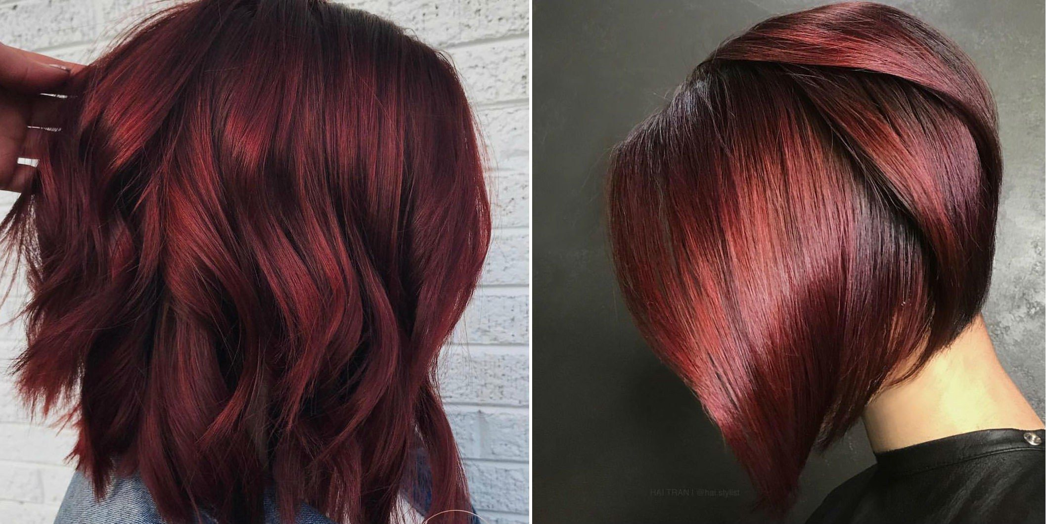 The Best Part There S The Exact Right Shade Of This Purple Y Red For Your Skin Tone Fashiontrendshair Wine Hair Wine Hair Color Burgundy Hair