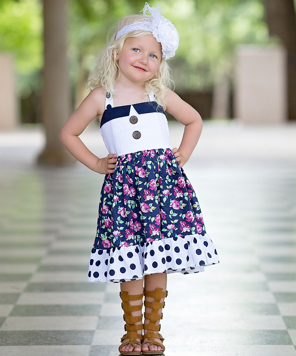 Be girl clothing navy blue hannah halter dress infant