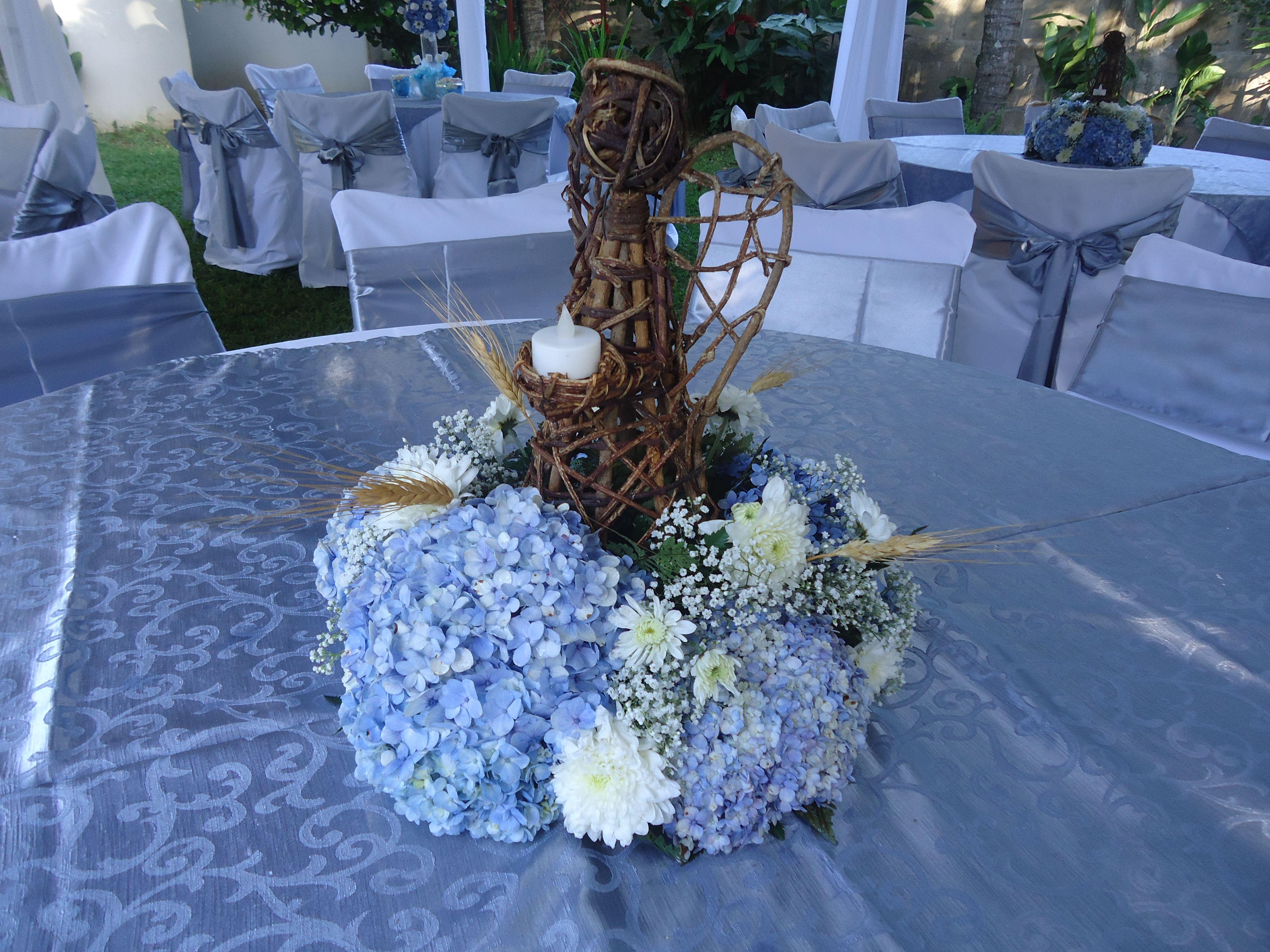 Centro de mesa primera comuni n decoraciones fiestas pinterest communion ideas para - Centros de mesa para primera comunion originales ...