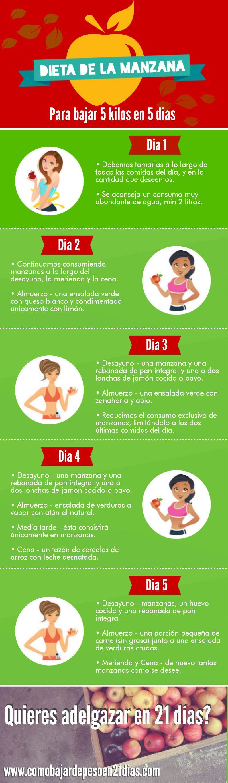 dieta sana y equilibrada para perder 5 kilos