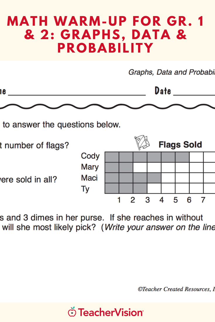 Math Warm Up 192 For Gr 1 2 Graphs Data Probability Printable 1st 2nd Grade Math Math Practice Worksheets Graphing [ 1102 x 735 Pixel ]