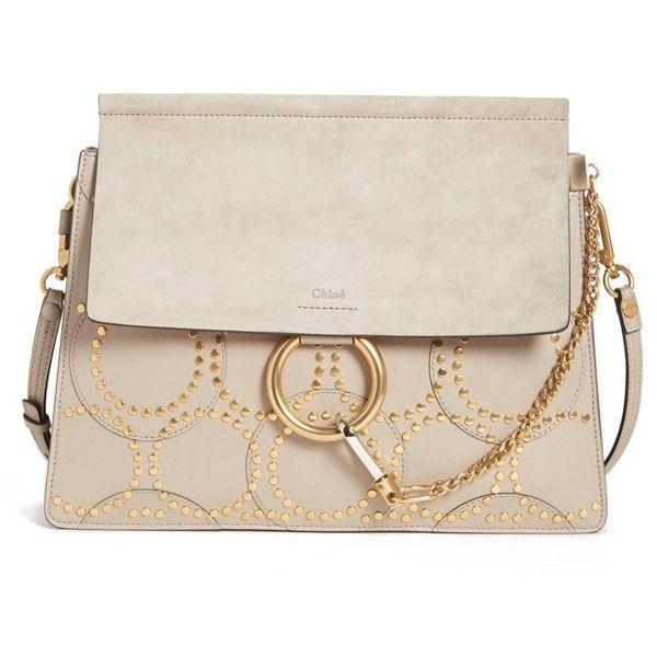 Chloé Satchel Bags - Faye Medium Shoulder Bag Motty Grey - - Satchel Bags for ladies Eastbay Online Best Place For Sale Largest Supplier dAkqtRHqk