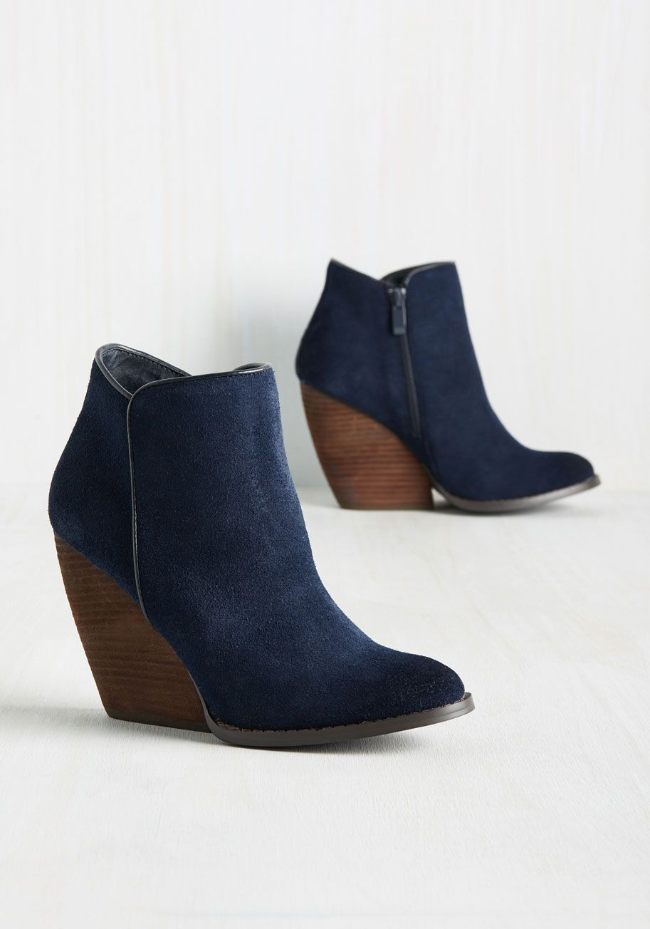 Step Out For The Day In These Lovely Suede Booties To Show You Re Ready Make An Official Statement This Stacked Heel Pair Is Your New Favorite