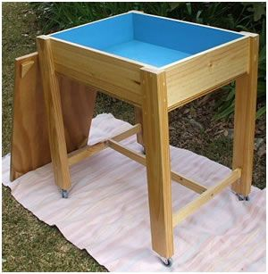 Sand Tray Table With Lid I Bet I Could Make This