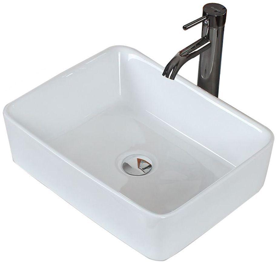 19 Inch W X 14 Inch D Rectangular Vessel Sink In White With Chrome Sink Rectangular Vessel Sink Above Counter Bathroom Sink