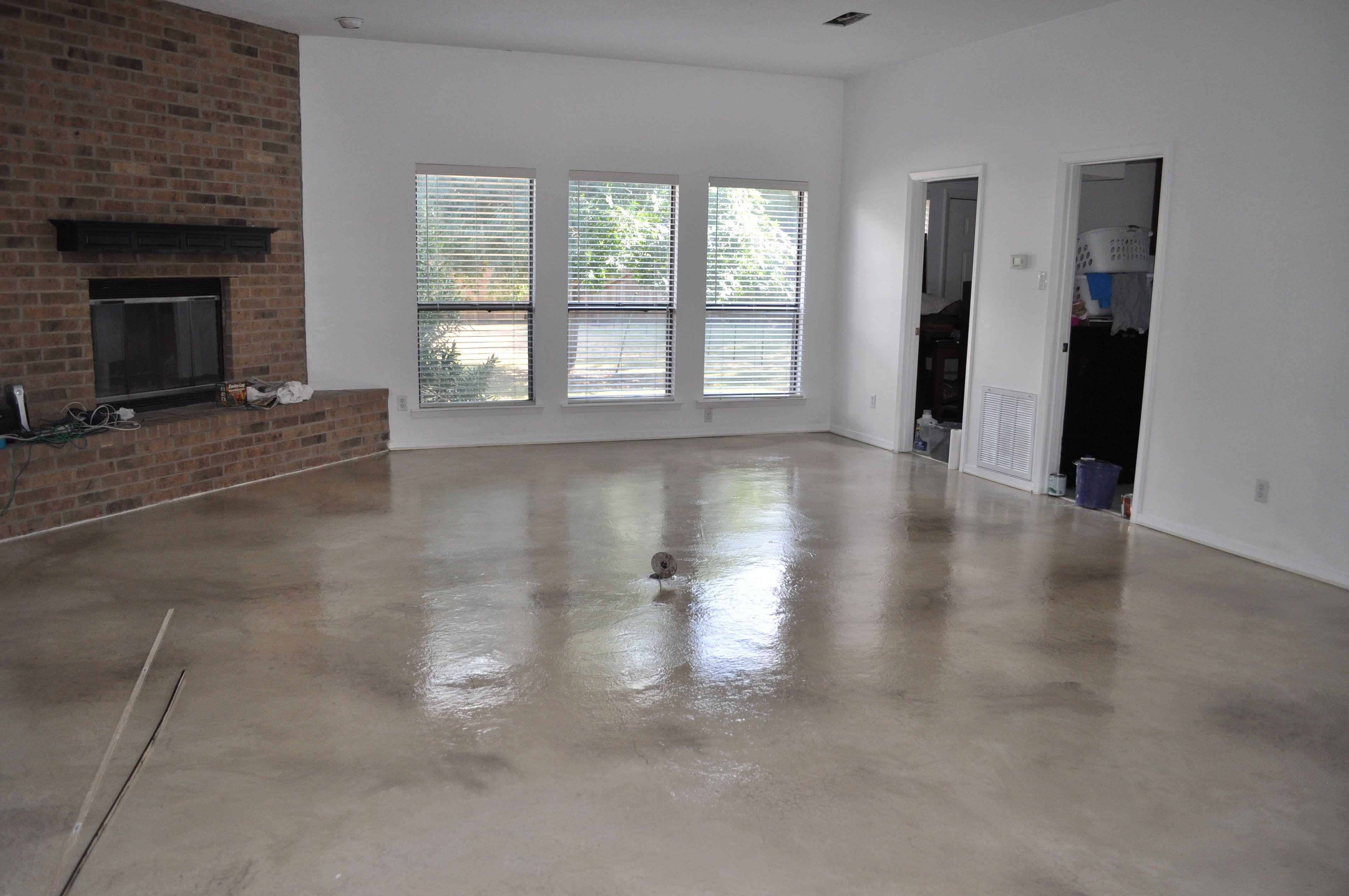 Hand Troweled Floor Decorative Concrete Works Beautiful Custom Floors Call Us At 8178322055 Or Visit Us At Www Dallasd Concrete Decor Custom Floor Concrete