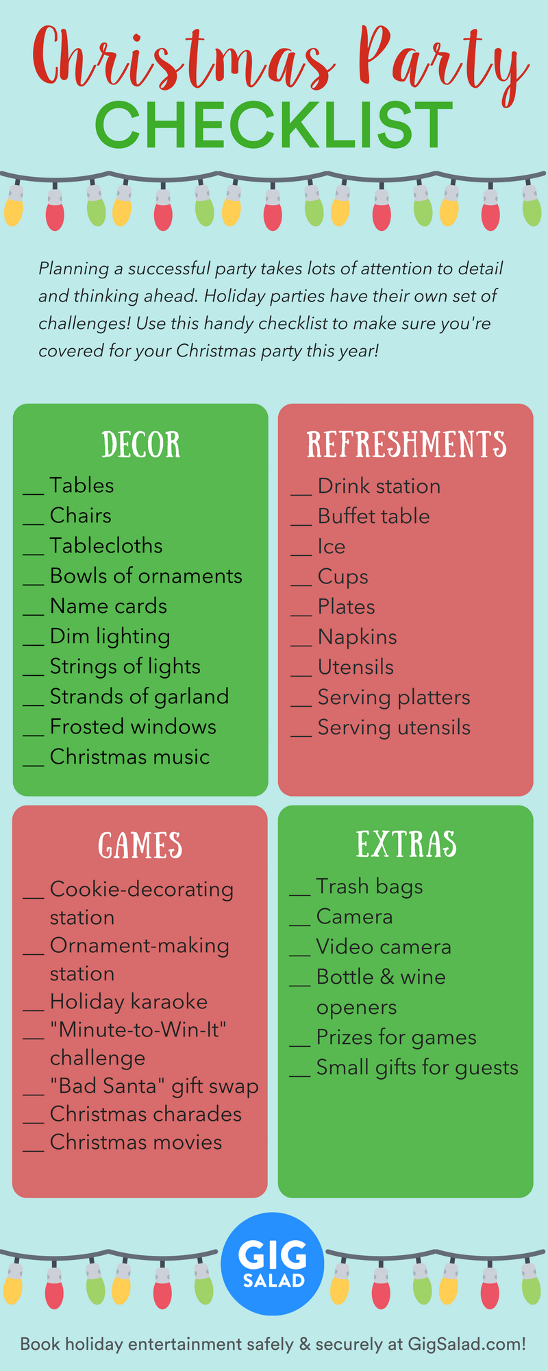 Christmas Party Planning.Use This Handy Christmas Party Planning Checklist To Make Sure Your