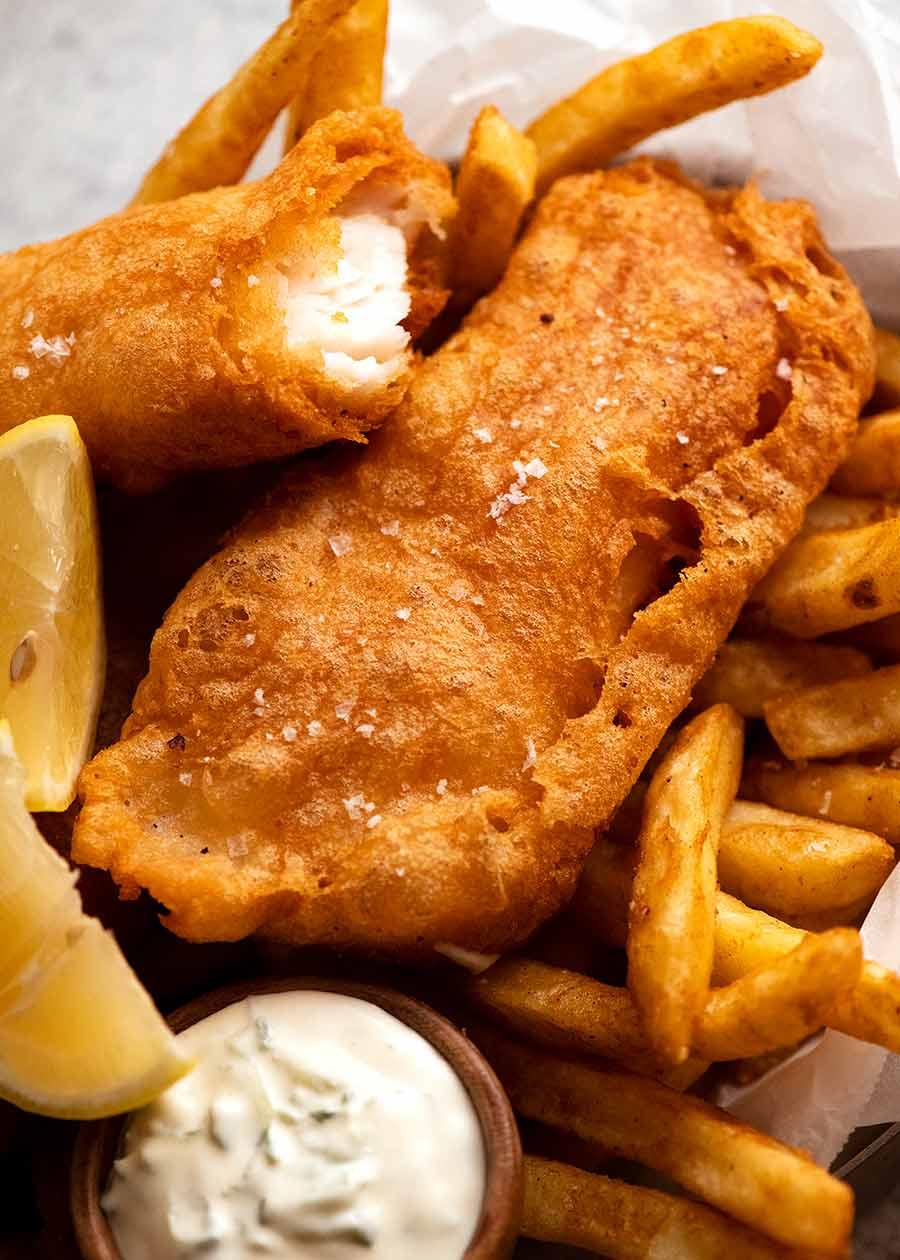 Crispy Beer Battered Fish Recipe In 2021 Battered Fish Beer Battered Fish Beer Batter