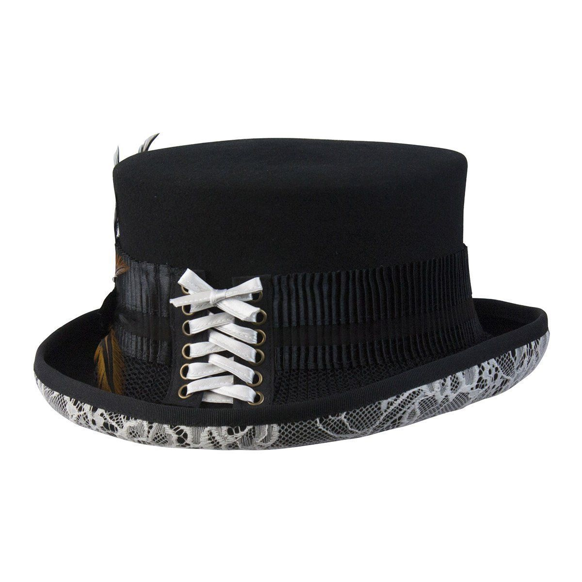 d42624cce43073 White Lace Victorian Steampunk Top Hat | Products | Steampunk top ...