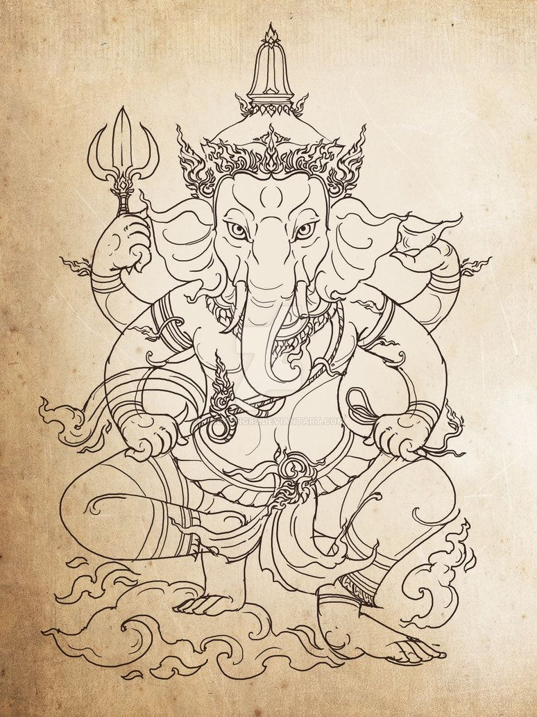 รูปภาพ รอยสักรูปช้าง โดย Rasta Sairee Sairee ใน ก
