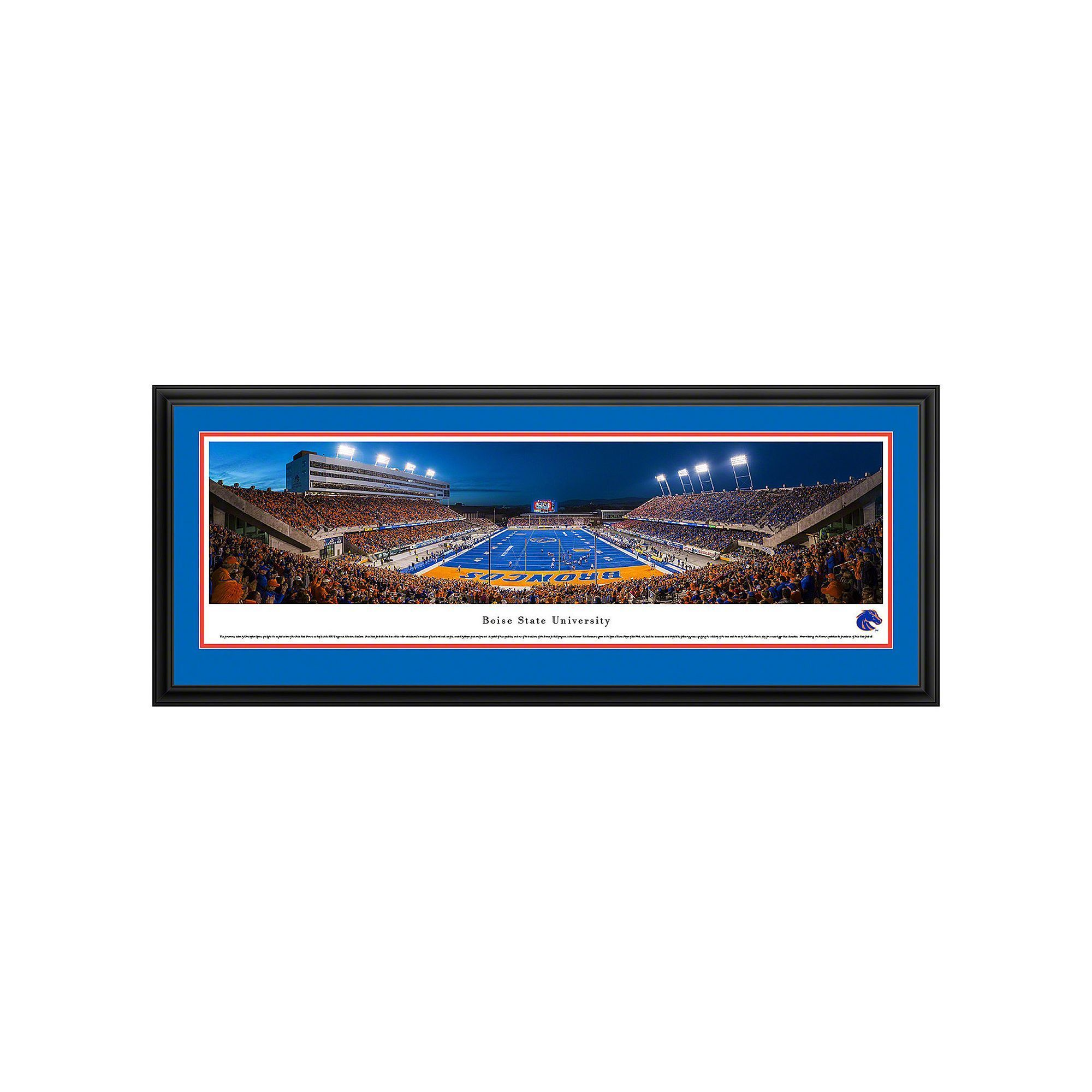 Boise State Broncos Football Stadium Framed Wall Art, Multicolor ...