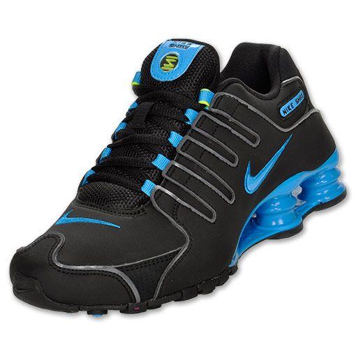 Nike Shox NZ Women's Running Shoes| FinishLine.com | Black/Volt/Blue Glow