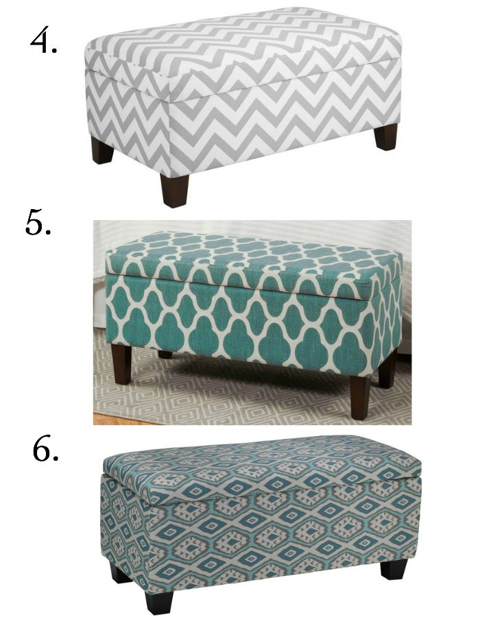 Charmant Affordable Storage Ottomans (under $300