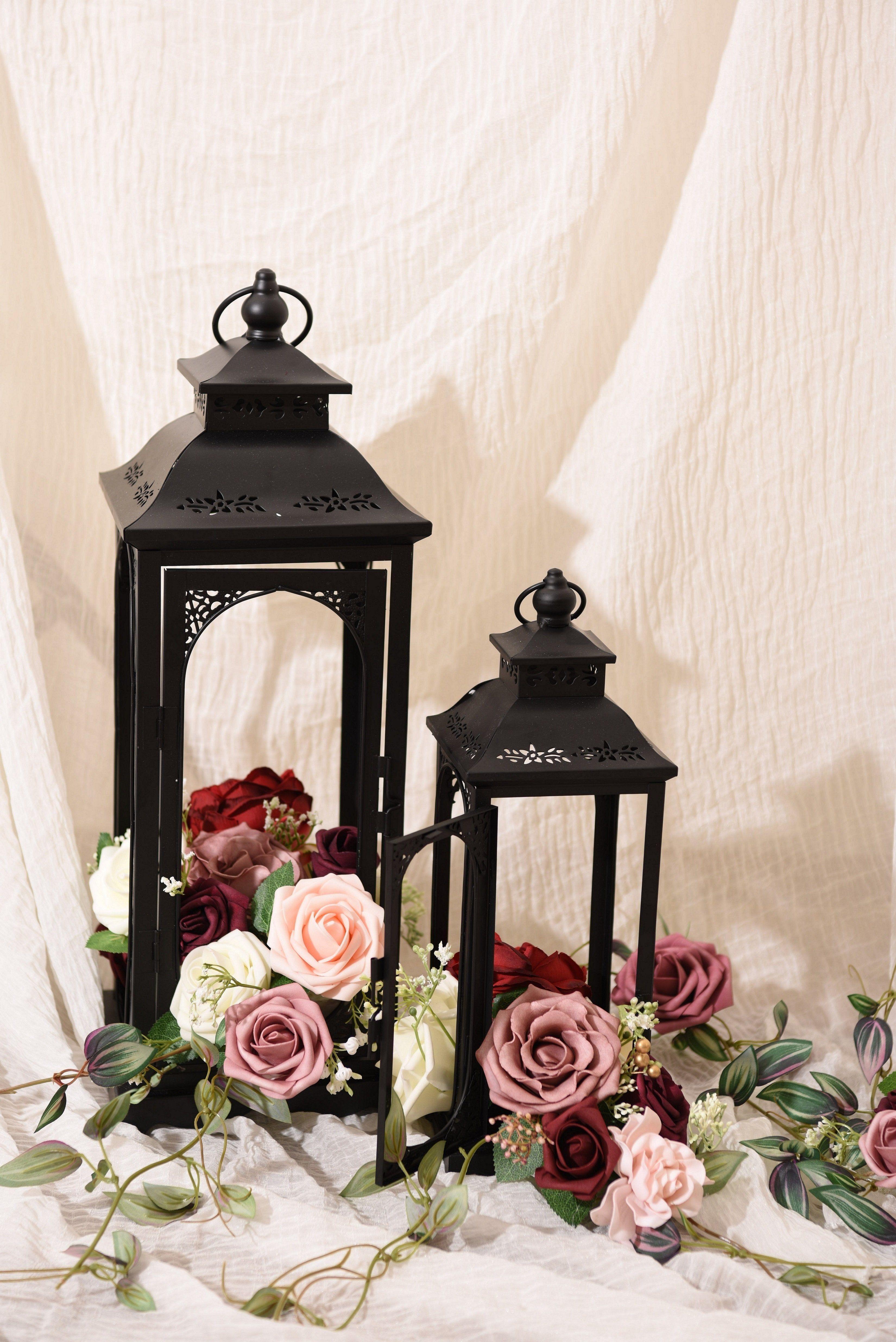 Dusty Rose Flowers Box Set 22 Styles In 2020 Burgundy Wedding Centerpieces Vintage Wedding Decorations Dusty Rose Wedding