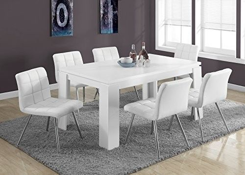 Modern White Dining Table Oversized Leg Chairs Dining Living Room