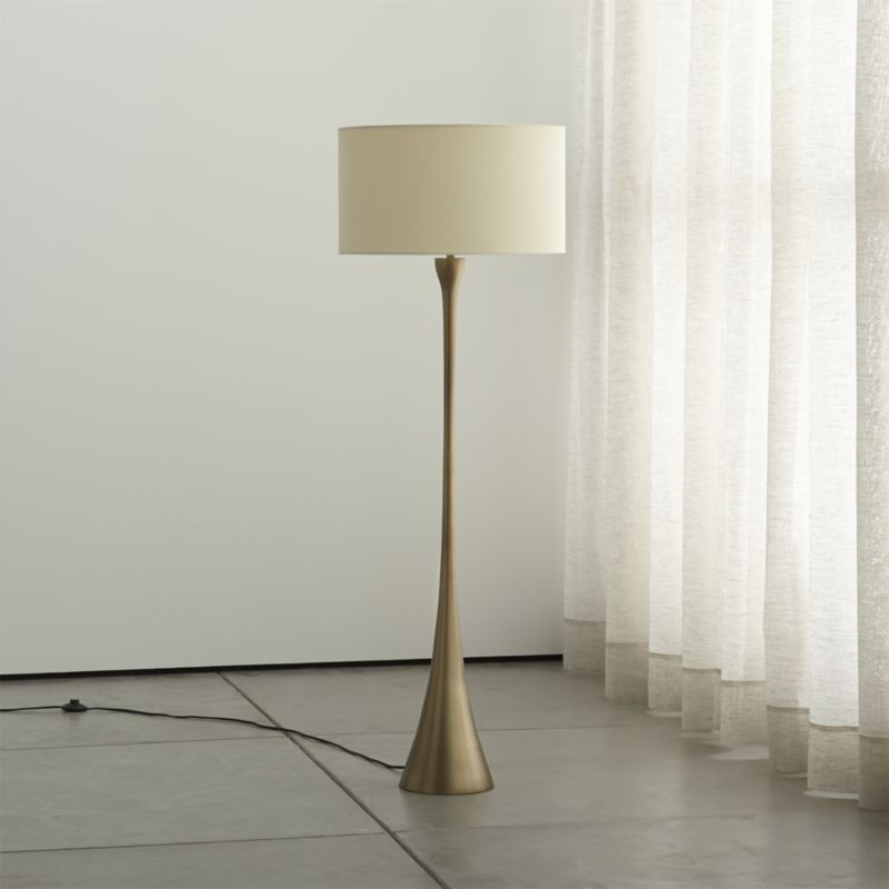 Surface Set The Mood With A Floor Lamp From Crate And Barrel Browse A Variety Of Styles Including Swing Arm With Images Floor Lamp Rustic Floor Lamps Brass Floor Lamp