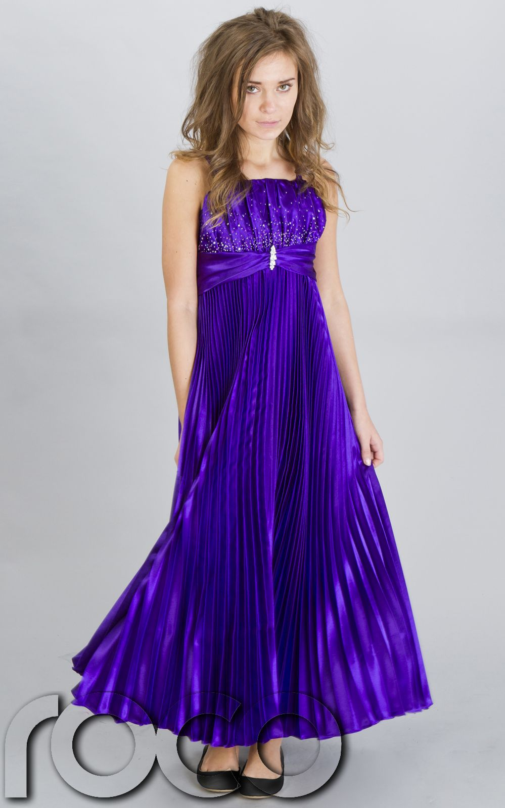 Cheap girls prom dresses girls party purple bridesmaid