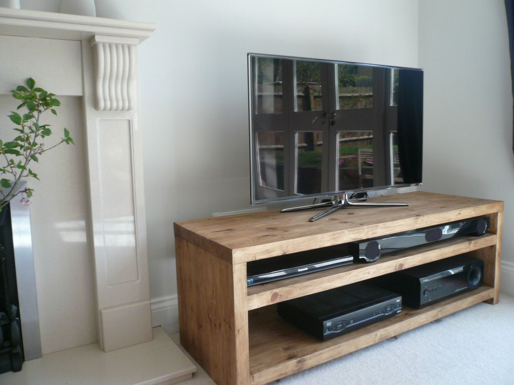 54 Handcrafted Solid Wood Tv Stand